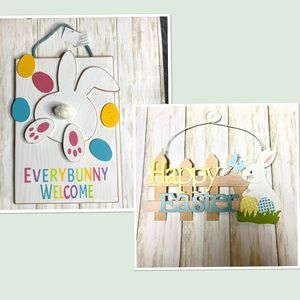 Easter decor . 2 wooden signs -